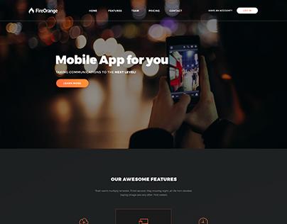FireOrange - App landing page template