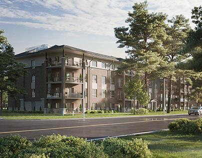 Housing estate in Canada