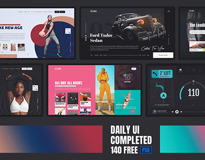 Daily UI Challenge Completed Free PSD