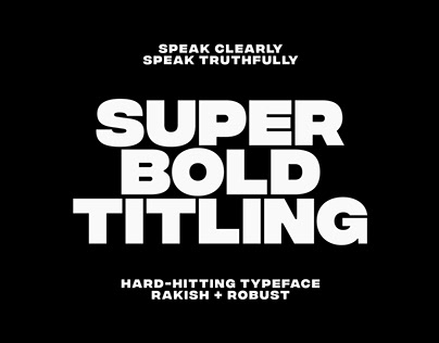 Integral CF | ultra bold typeface