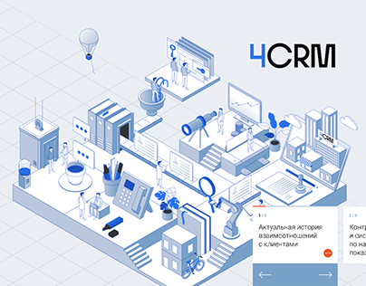 website infographic for crm system