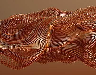 Broken Copper Chains 3D art