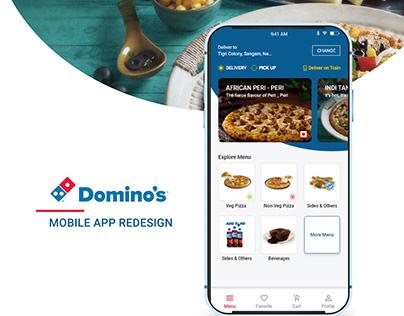 Domino's - Pizza Deliver Mobile App Redesign