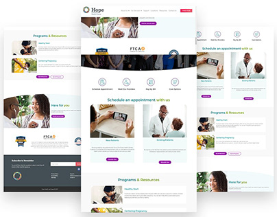 Hope Christian Health Centre - Landing Page