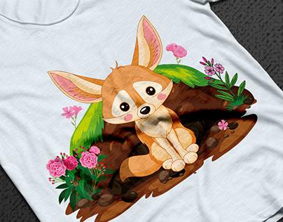 Cute Fennec Fox t-shirt