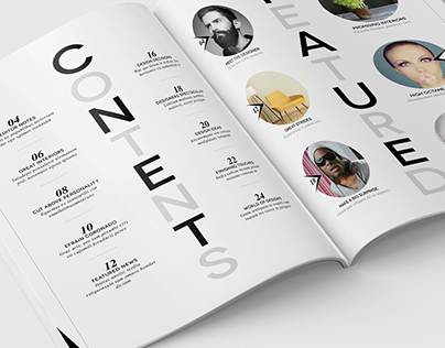 Magazine Template - InDesign 24 Page Layout V12