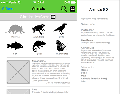 UX: Low-fidelity mockup mobile app