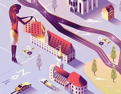 SHOP Magazine – Map cover illustrations
