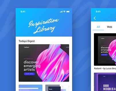 ios app: Inspiration Library