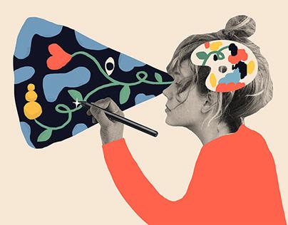Illustrations for Sber /Jul—Oct 2019