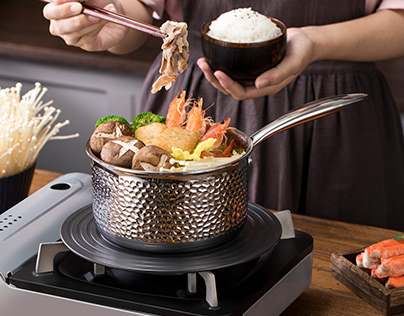 High-end kitchenware food photography