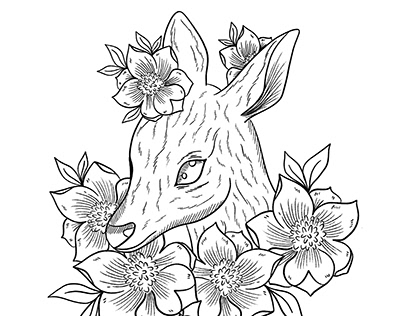 Animal and flowers