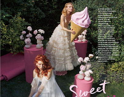 Fashion Styling and Makeup for Wedding Magazine