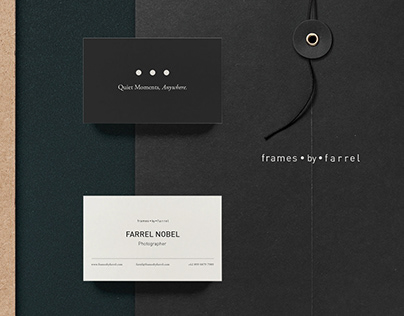 Frames By Farrel | Photographer | Brand & Identity