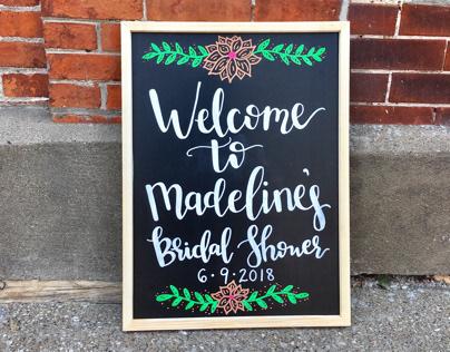 Bridal Shower Chalkboard
