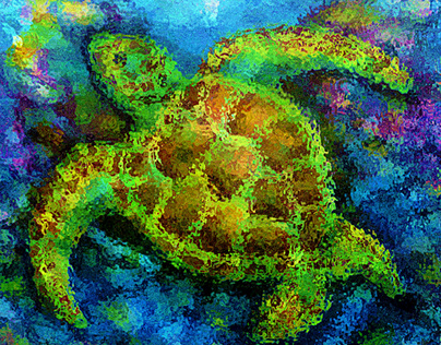 Art & Music - Honu - Green Sea Turtle & Hawaiian Chant