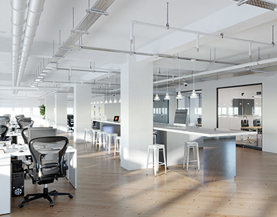 New office space in different styles. Netherlands