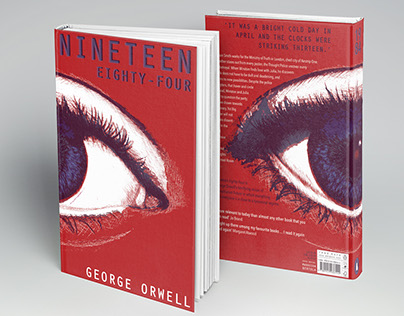 Book Cover Project George Orwell 1984