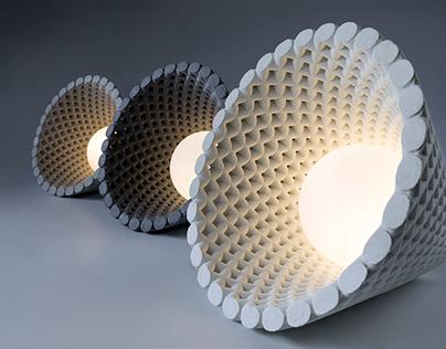 HELIA- Concrete mesh light fixture