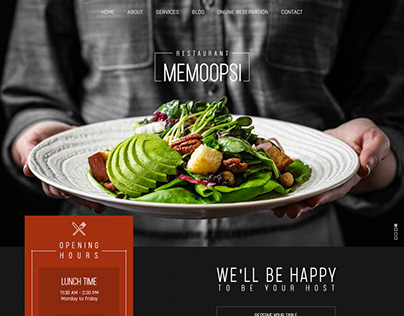Memoompsi restaurant website design