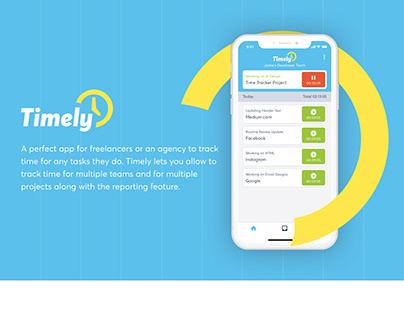 Timely - Time Tracking App UI Design
