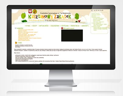 Website project for kindergarten
