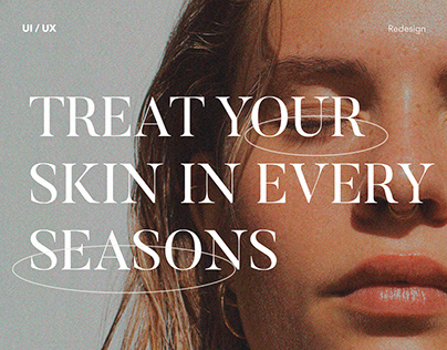 E-commerce organic cosmetics - redesign concept