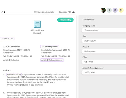Contract tool - SaaS product