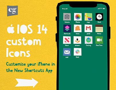 Cutout handmade Icon iOS 14 Set