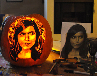 Pumpkin Carving Portrait