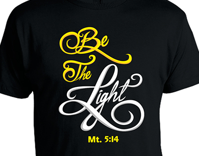 Diseño Camisetas BE THE LIGHT