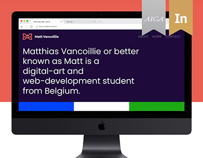Matt Vancoillie, Personal Website