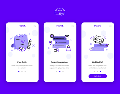 """Planrt."" App - Onboarding Screens"