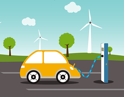 Electric Car Charging Station | After Effects Template