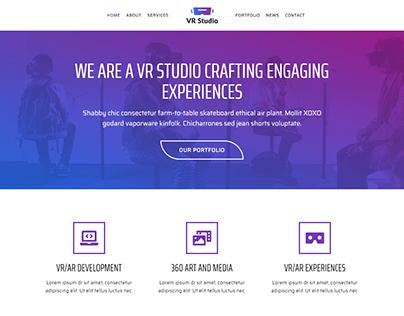 Studio wordpress website | Landing page