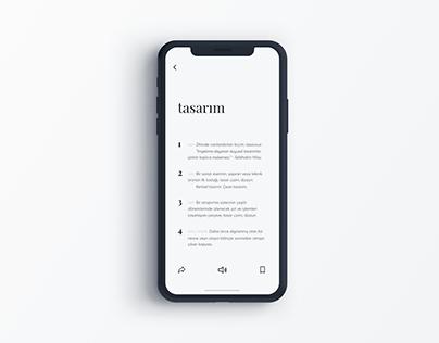 TDK app redesign - dictionary app design
