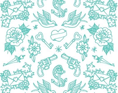 Tattoo Pattern - T-shirt