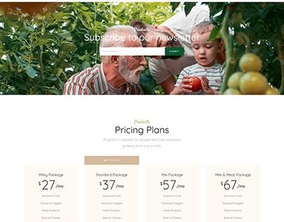 Agricultural WordPress Website