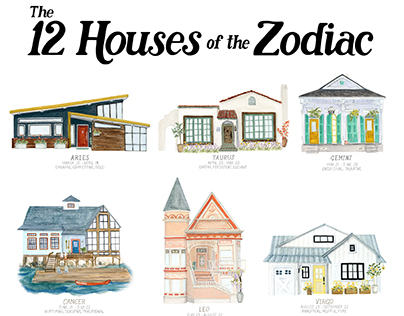 12 Houses of the Zodiac