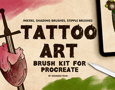 Tattoo Art Procreate Brush Kit By:Seamless Team
