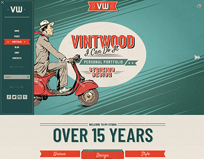 VintWood Retro Vintage Theme