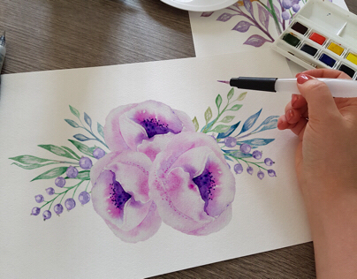 Watercolor Flowers Illustrations