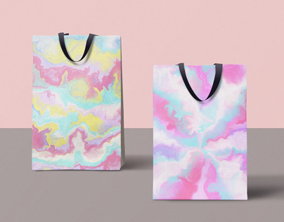 Digital Marbling | Colorful abstract illustrations
