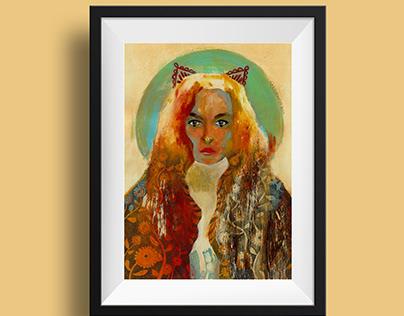 Stefania Visconti portrait
