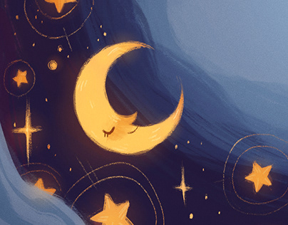 Night Sky Bookplate
