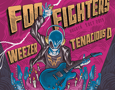 FOO FIGHTERS - Gig poster