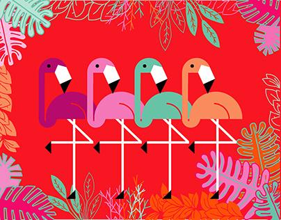 PINK FLAMINGO Diseño e Ilustración