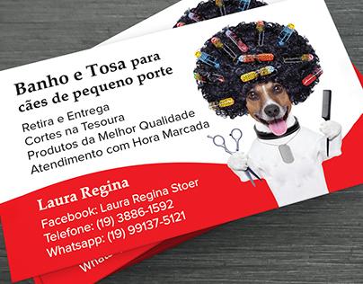 Banho e Tosa / Hospedagem de pets - Cartão de Visita