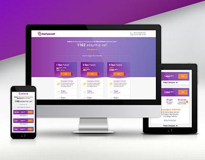 Kariyer.net Online Sales Responsive Page