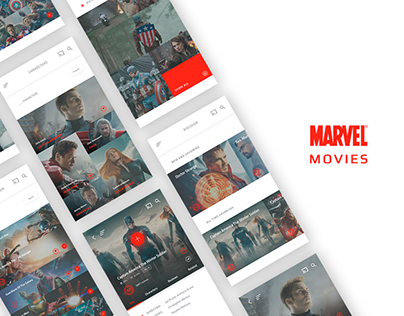 MARVEL Movies - Mobile App Design